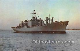 mil050438 - USS Niagara Falls AFS-3 Combat Stores Ship Postcard Post Card