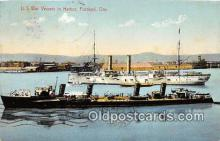 mil050440 - US War Vessels in Harbor Portland, Oregon Postcard Post Card