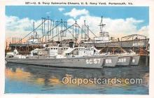 mil050441 - US Navy Submarine Chasers US Navy Yard, Portsmouth, VA Postcard Post Card