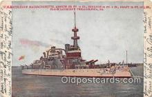 mil050443 - US Battleship Massachusetts Philadelphia, PA Postcard Post Card