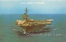 mil050445 - uses John F Kennedy Warship Postcard Post Card