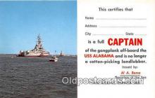 mil050446 - USS Alabama  Postcard Post Card