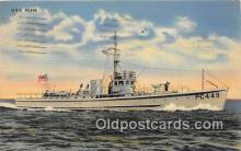 mil050447 - USS PC 449 Coastal US Postcard Post Card
