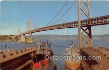 mil050482 - San Francisco Bay Golden Gate Bridge Postcard Post Card