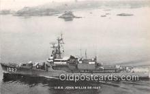 mil050483 - USS John Willis De-1027 US Atlantic Fleet Postcard Post Card