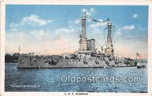 mil050484 - USS Alabama  Postcard Post Card