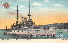 mil050485 - US Battleship Alabama  Postcard Post Card