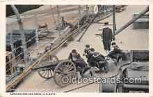mil050486 - Landing Gun & Crew US Navy Postcard Post Card