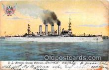 mil050494 - US Armored Cruiser Colorado  Postcard Post Card