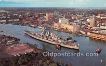 mil050495 - USS North Carolina Wilmington, North Carolina Postcard Post Card