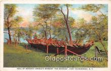 mil050496 - Hull of Benedict Arnold's Warship, The Revenge Fort Ticonderoga, NY Postcard Post Card