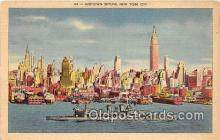 mil050500 - Midtown Skyline New York City Postcard Post Card