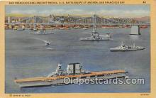 mil050507 - US Battleships at Anchor San Francisco Bay Postcard Post Card