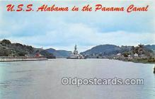 mil050513 - USS Alabama Panama Canal Postcard Post Card