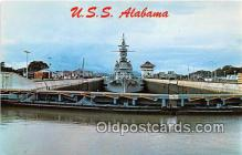 mil050514 - USS Alabama  Postcard Post Card