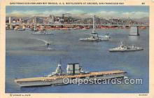 mil050522 - US Battleships at Anchor San Francisco Bay Postcard Post Card