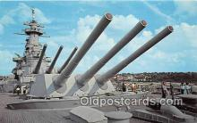 mil050524 - USS North Carolina's Big Guns Wilmington, North Carolina Postcard Post Card
