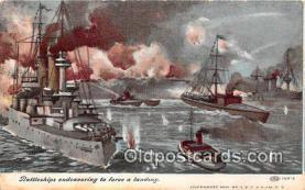 mil050535 - Battleships Endeavoring  Postcard Post Card
