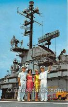 mil050537 - Aboard Aircraft Carrier, US Naval Air Station Pensacola, Florida Postcard Post Card