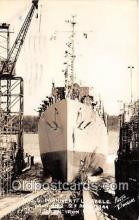 mil050539 - Real Photo - USS Mannert L Abele Bath Iron Works Corporation, Bath, Maine Postcard Post Card