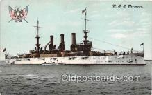 mil050545 - USS Vermont  Postcard Post Card