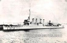 mil050565 - USS Jacob Jones DD-130 Atlantic Postcard Post Card