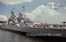 mil050566 - USS Missouri Bremerton, Washington Postcard Post Card