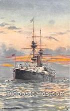 mil050573 - HMS Magnificent Tucks Publisher Postcard Post Card