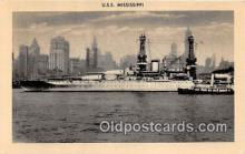 mil050598 - USS Mississippi  Postcard Post Card