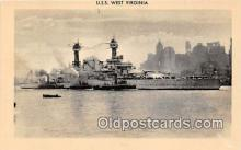 mil050604 - USS West Virginia  Postcard Post Card