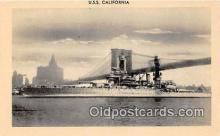 mil050606 - USS California  Postcard Post Card