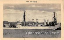 mil050607 - USS Richmond  Postcard Post Card