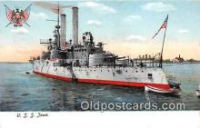 mil050608 - USS Iowa  Postcard Post Card