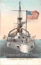 mil050653 - US Battleship Kentucky  Postcard Post Card