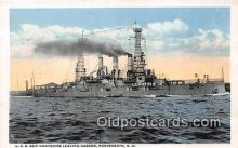 mil050674 - USS New Hampshire Leaving Harbor Portsmouth, NH, USA Postcards Post Cards Old Vintage Antique