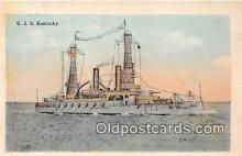 mil050677 - USS Kentucky  Postcards Post Cards Old Vintage Antique