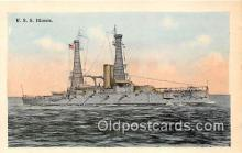 mil050679 - USS Illinois  Postcards Post Cards Old Vintage Antique