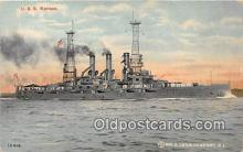 mil050680 - USS Kansas  Postcards Post Cards Old Vintage Antique