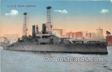 mil050681 - USS South Carolina  Postcards Post Cards Old Vintage Antique
