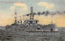 mil050682 - Armored Cruiser North Carolina  Postcards Post Cards Old Vintage Antique