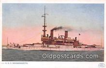 mil050691 - USS Massachusetts  Postcards Post Cards Old Vintage Antique