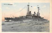 mil050707 - USS Michigan  Postcards Post Cards Old Vintage Antique