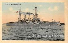 mil050709 - USS New Hampshire  Postcards Post Cards Old Vintage Antique