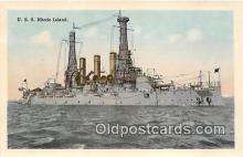 mil050711 - USS Rhode Island  Postcards Post Cards Old Vintage Antique