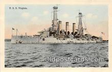mil050712 - USS Virginia  Postcards Post Cards Old Vintage Antique