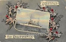 mil050720 - USS Kentucky California, USA Postcards Post Cards Old Vintage Antique