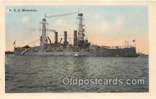 mil050724 - USS Minnesota  Postcards Post Cards Old Vintage Antique