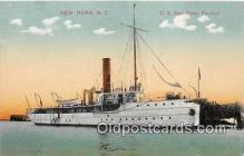 mil050729 - US Rev Cutter Pamlico New Bern, NC, USA Postcards Post Cards Old Vintage Antique