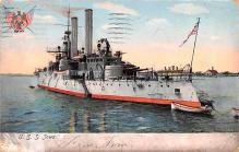 mil051042 - Military Battleship Postcard, Old Vintage Antique Military Ship Post Card
