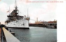 mil051043 - Military Battleship Postcard, Old Vintage Antique Military Ship Post Card